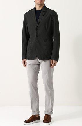 Однобортный хлопковый пиджак Tomas Maier темно-зеленый | Фото №1