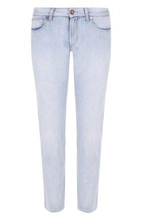 Мужские джинсы прямого кроя GIORGIO ARMANI голубого цвета, арт. 3ZSJ35/SD53Z | Фото 1