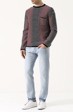 Мужские джинсы прямого кроя GIORGIO ARMANI голубого цвета, арт. 3ZSJ35/SD53Z | Фото 2