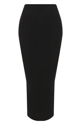 Однотонная вязаная юбка-карандаш | Фото №1