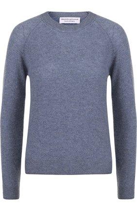 Кашемировый пуловер с круглым вырезом Alexandra Golovanoff розовый | Фото №1