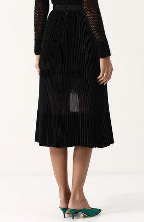 Полупрозрачная плиссированная юбка-миди | Фото №4