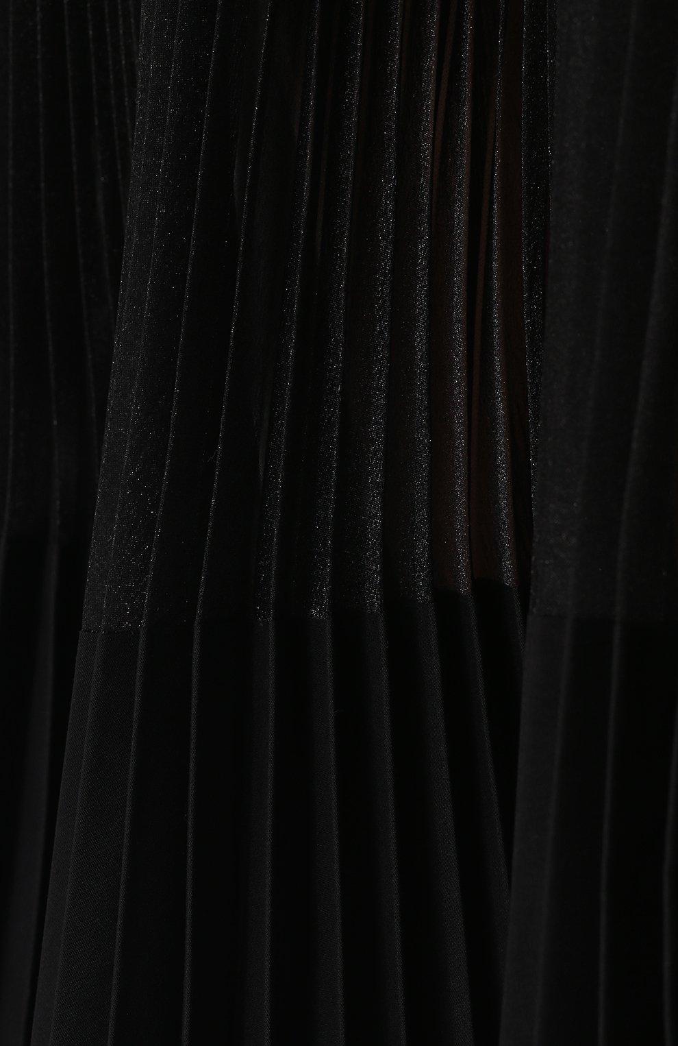 Полупрозрачная плиссированная юбка-миди | Фото №5