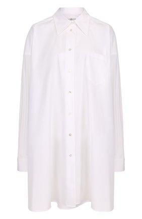Женская удлиненная хлопковая блуза свободного кроя Maison Margiela, цвет белый, арт. S51DL0240/S43001 в ЦУМ | Фото №1