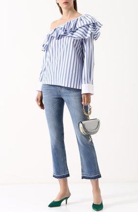 Женская блуза в полоску с открытым плечом  Clu, цвет синий, арт. WL18PS5071-N в ЦУМ | Фото №1
