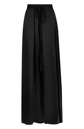 Однотонная юбка-макси из шелка   Фото №1