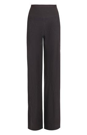 Однотонные расклешенные брюки с карманами | Фото №1