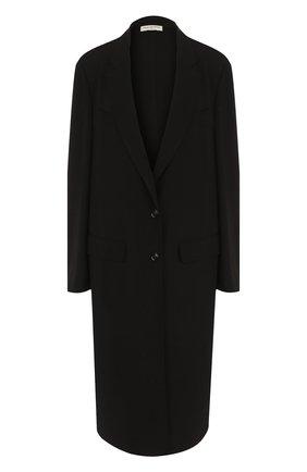 Однотонное пальто свободного кроя   Фото №1