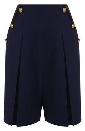 Шерстяные шорты с карманами и стрелками | Фото №1