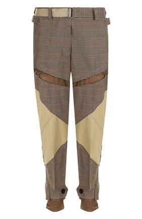 Укороченные хлопковые брюки с поясом | Фото №1
