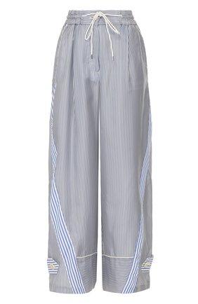 Укороченные широкие брюки в полоску | Фото №1