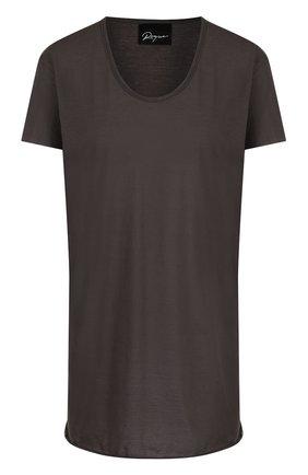 Хлопковая футболка свободного кроя с круглым вырезом | Фото №1