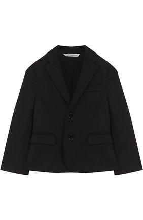 Пиджак из хлопка на двух пуговицах | Фото №1