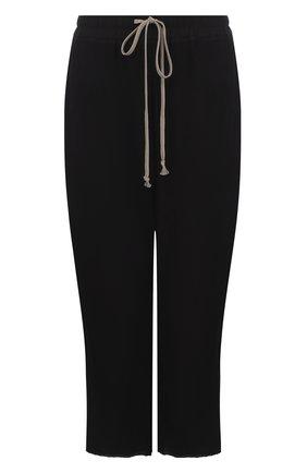 Однотонные укороченные брюки из шелка | Фото №1