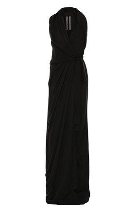 Приталенное шелковое платье-макси без рукавов | Фото №1