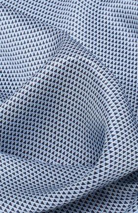 Мужской шелковый платок с узором BOSS синего цвета, арт. 50386652 | Фото 2