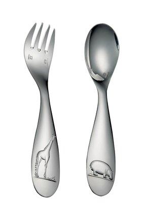 Мужского детский набор из 2-х предметов savane CHRISTOFLE серебряного цвета, арт. 00079314   Фото 1