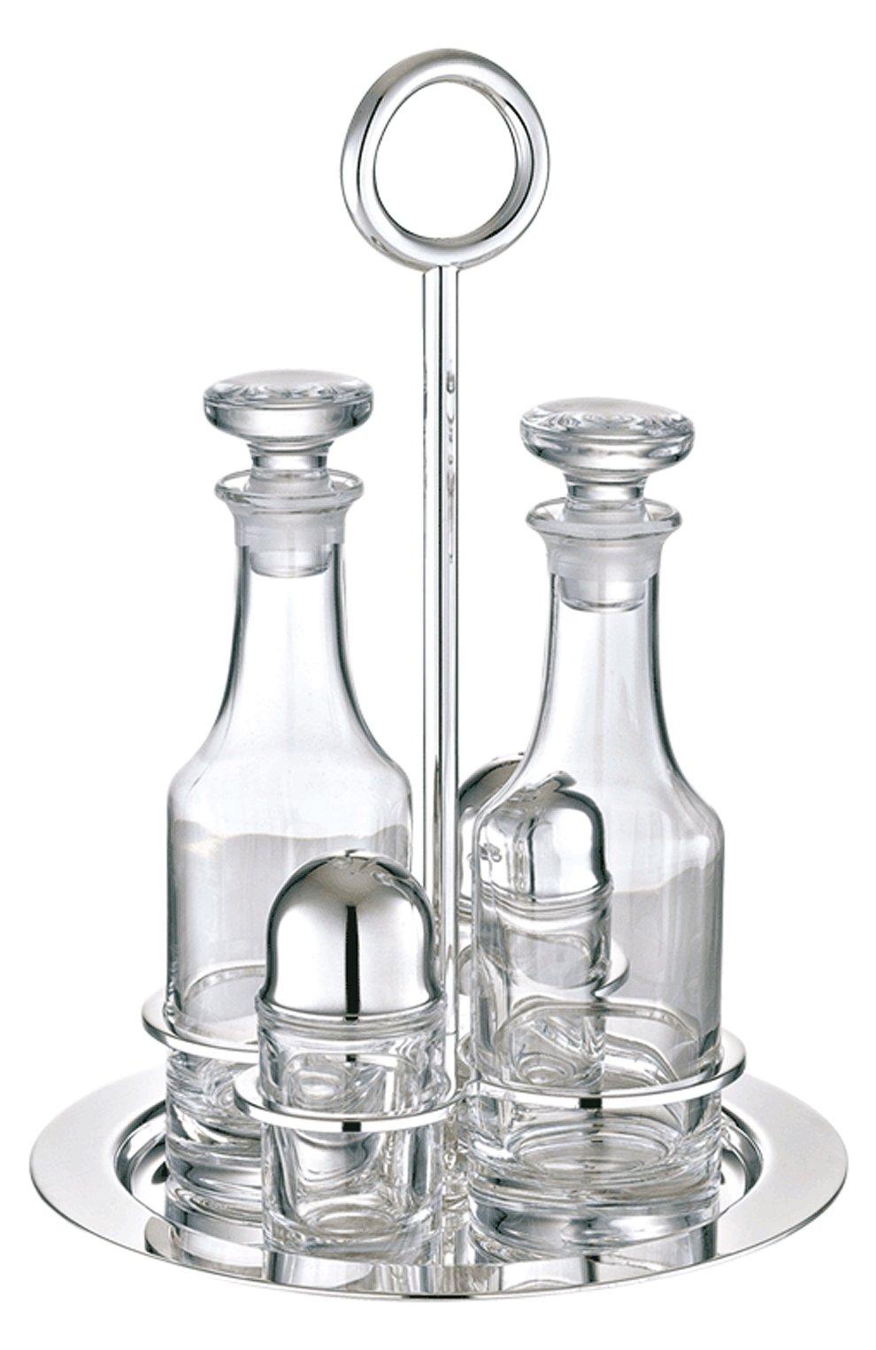 Мужского набор из солонки, перечницы и 2-х бутылок vertigo CHRISTOFLE прозрачного цвета, арт. 03928130 | Фото 1