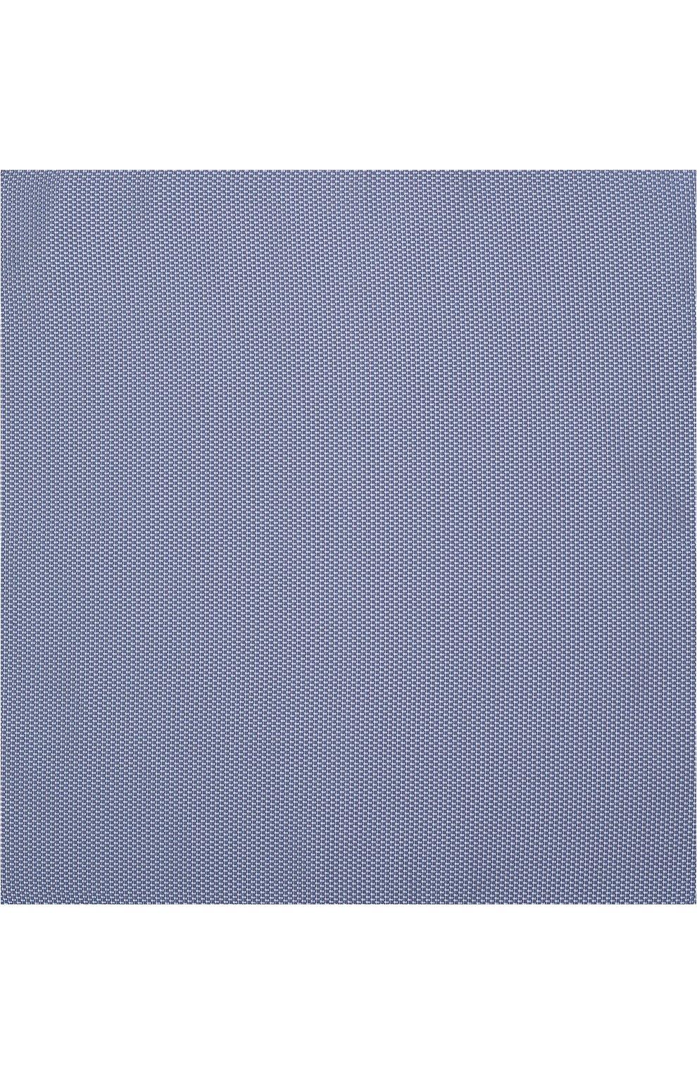 Мужской шелковый платок с узором BOSS голубого цвета, арт. 50386784 | Фото 3