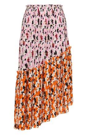 Плиссированная юбка асимметричного кроя