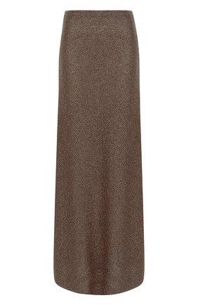 Расклешенная юбка-макси из вискозы   Фото №1