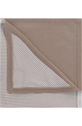 Детского хлопковое одеяло в полоску LORO PIANA бежевого цвета, арт. FAG3966 | Фото 1