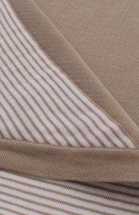 Детского хлопковое одеяло в полоску LORO PIANA бежевого цвета, арт. FAG3966 | Фото 2