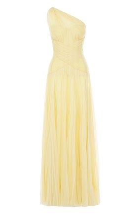 Шелковое плиссированное платье-макси | Фото №1