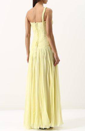 Шелковое плиссированное платье-макси | Фото №4