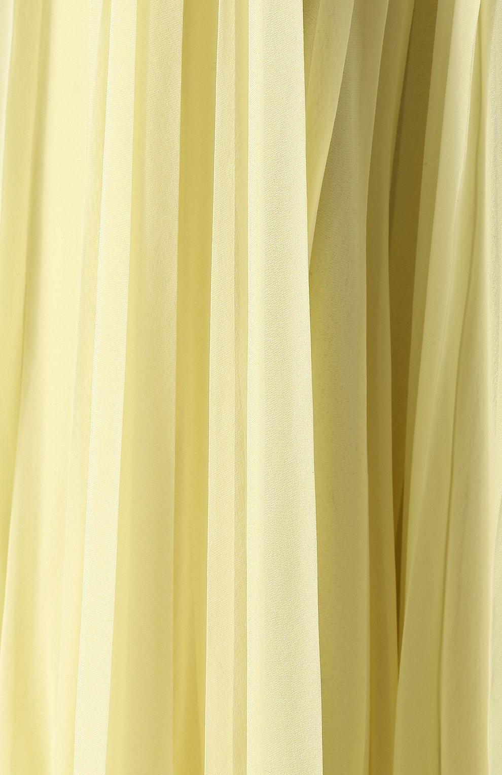 Шелковое плиссированное платье-макси | Фото №5
