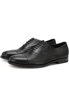 Классические кожаные оксфорды Fratelli Rossetti черные | Фото №1
