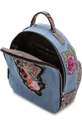 Рюкзак из денима с аппликацией | Фото №4