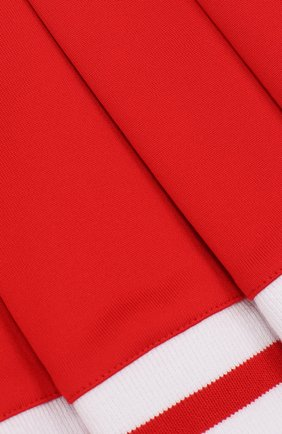Хлопковая юбка с защипами и контрастной отделкой | Фото №3