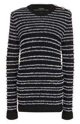 Пуловер из вискозы с круглым вырезом