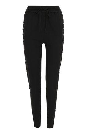 Однотонные хлопковые брюки-скинни | Фото №1