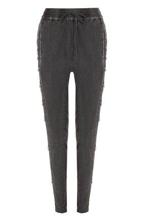 Хлопковые брюки с эластичным поясом | Фото №1