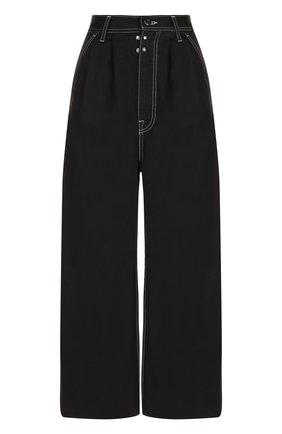 Укороченные широкие джинсы | Фото №1