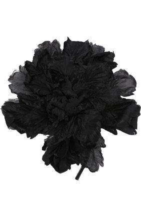 Шелковая брошь в виде цветка   Фото №1