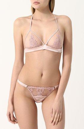Кружевной треугольный бюстгальтер Fleur of England розовый   Фото №1