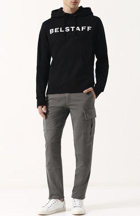 Хлопковые брюки-карго Belstaff серые | Фото №1