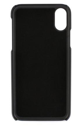 Кожаный чехол для iPhone X с аппликацией | Фото №2