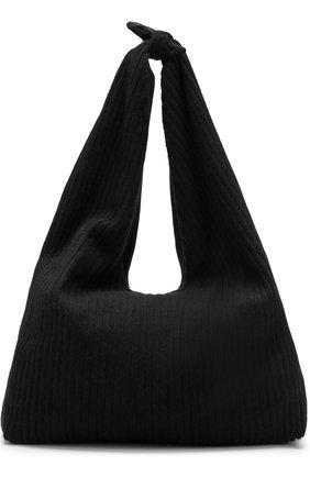 Сумка из текстиля The Row черная цвета | Фото №1