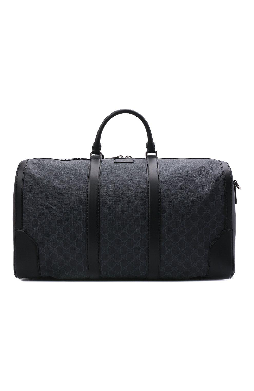 8df821ae87ee Мужская черная дорожная сумка gg supreme с плечевым ремнем GUCCI ...