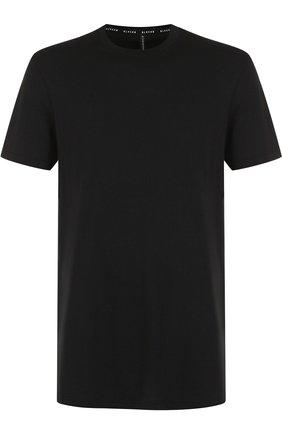 Хлопковая футболка с круглым вырезом BLACKBARRETT черная | Фото №1