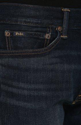 Джинсы прямого кроя Polo Ralph Lauren синие | Фото №5