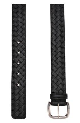 Мужской кожаный ремень  BOTTEGA VENETA черного цвета, арт. 173784/V465V | Фото 2