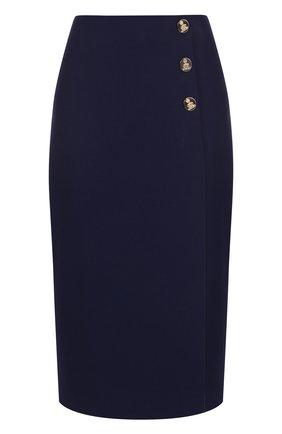 Шерстяная однотонная юбка-миди | Фото №1