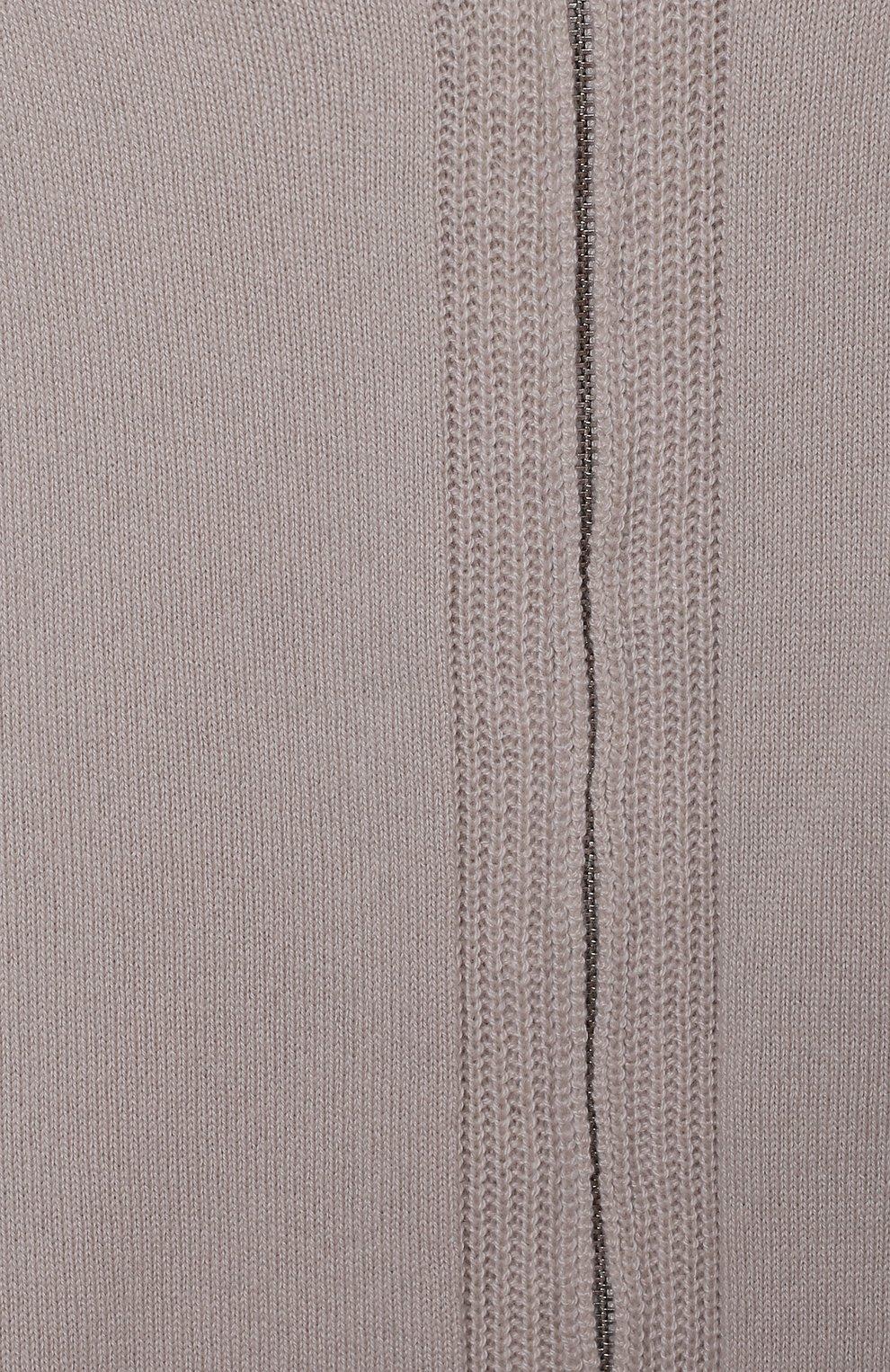 Детский кашемировая толстовка LORO PIANA серого цвета, арт. FAG4729 | Фото 3