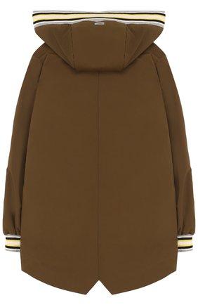 Куртка на молнии с капюшоном Herno хаки цвета   Фото №1