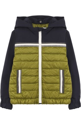 Стеганая куртка с капюшоном   Фото №1